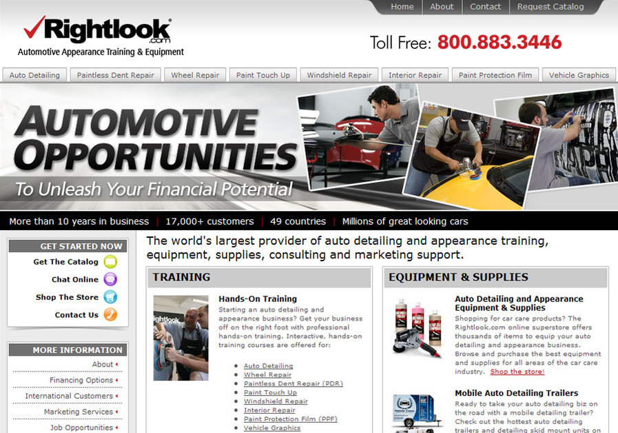 A great web design by Rightlook Creative, San Diego, CA: