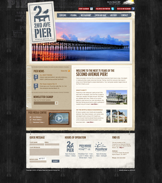 A great web design by Inkhaus Creative: