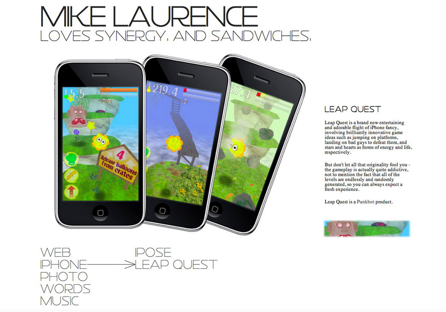 A great web design by Mike Laurence, Chicago, IL: