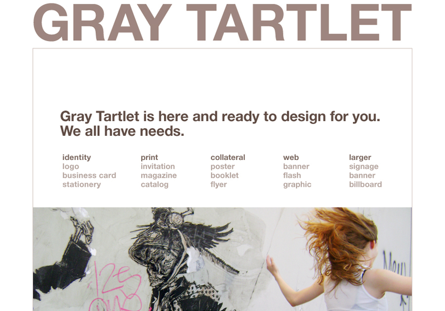 A great web design by Gray Tartlet, Los Angeles, CA: