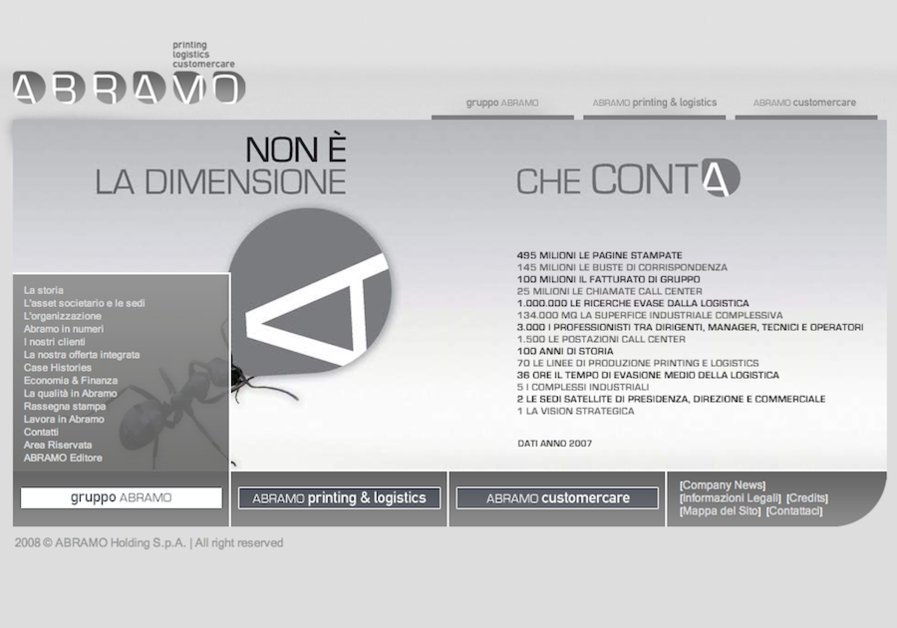 A great web design by Spazio Grafico, Catanzaro, Italy:
