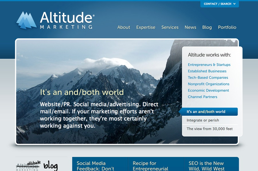 A great web design by Altitude Marketing: