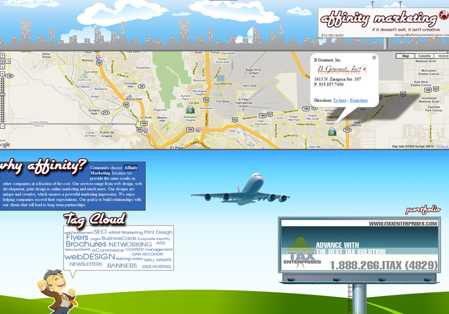 A great web design by Affinity Marketing, El Paso, TX: