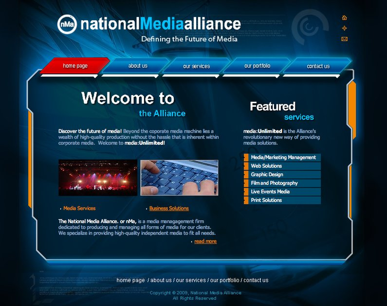 A great web design by National Media Alliance, Nashville, TN: