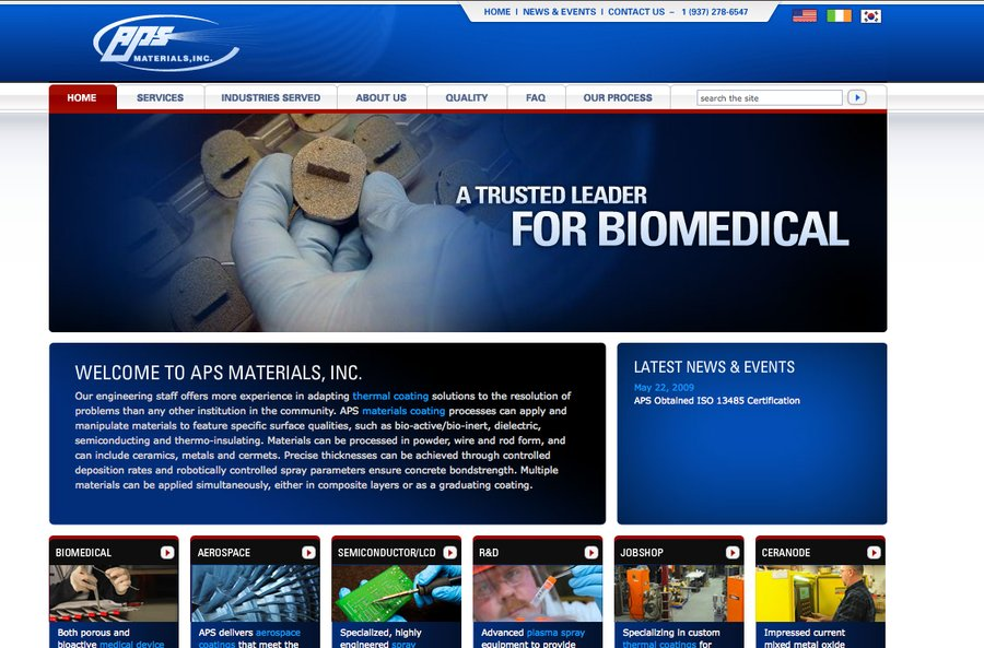 A great web design by Atomic Interactive Group, Dayton, OH: