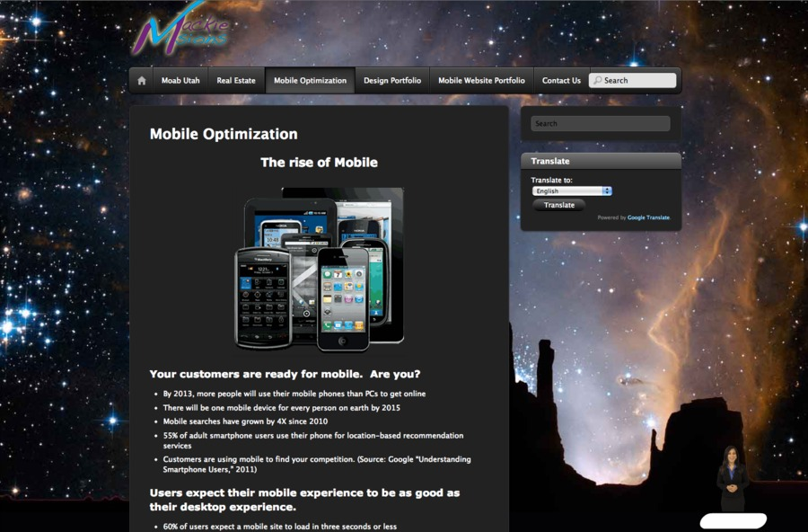 A great web design by Mackie Visions, Grand Junction, UT: