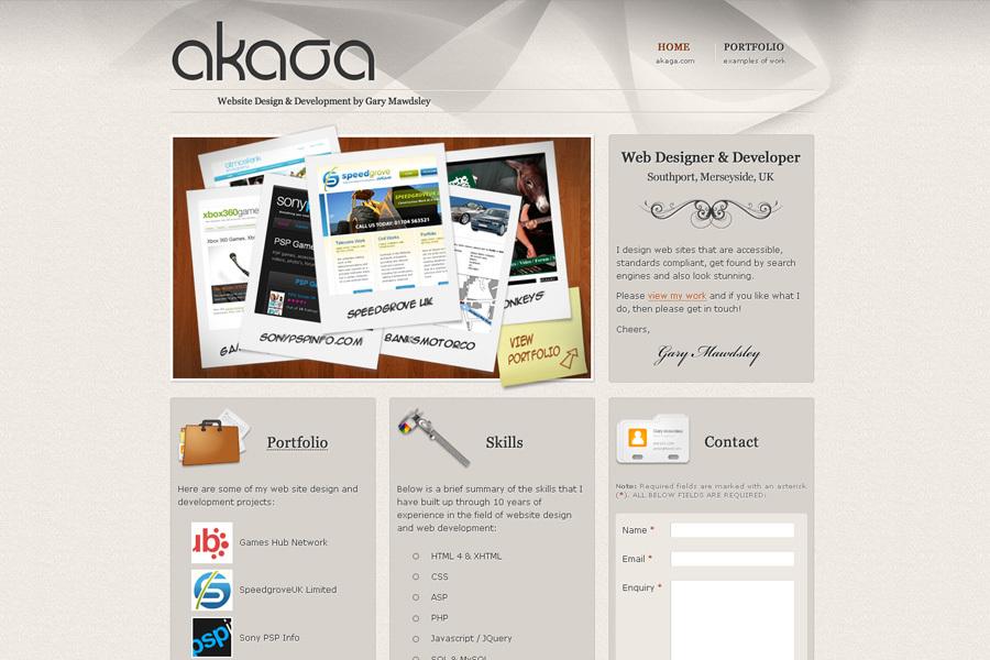 A great web design by AKAGA - Gary Mawdsley, Southport, United Kingdom: