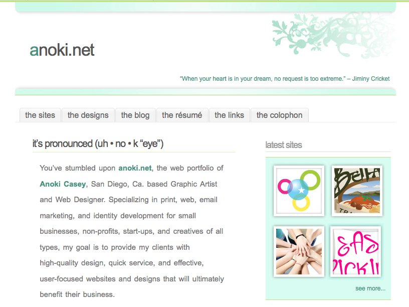 A great web design by anoki.net, Los Angeles, CA: