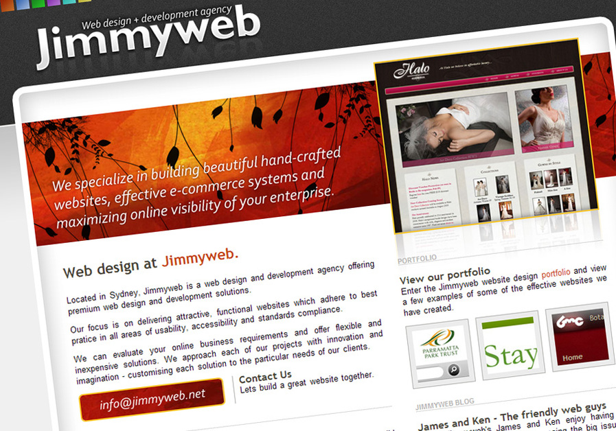 A great web design by Jimmyweb, Sydney, Australia: