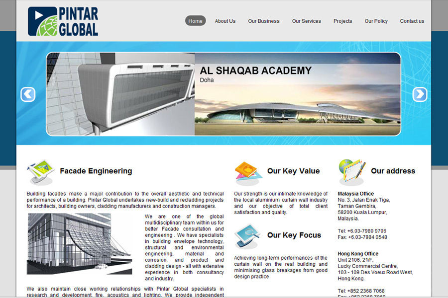 A great web design by E Access Solutions, Kuala Lumpur, Malaysia: