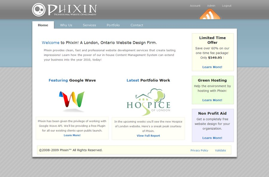 A great web design by Phixin Web Services, London, Canada: