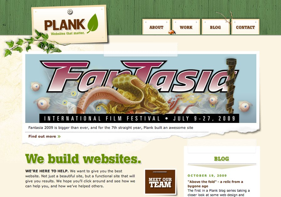 A great web design by Plank, Montreal, Canada: