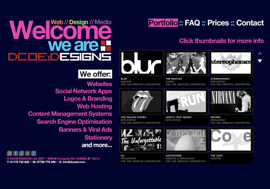 A great web design by DCOE:DESIGNS, Bristol, United Kingdom:
