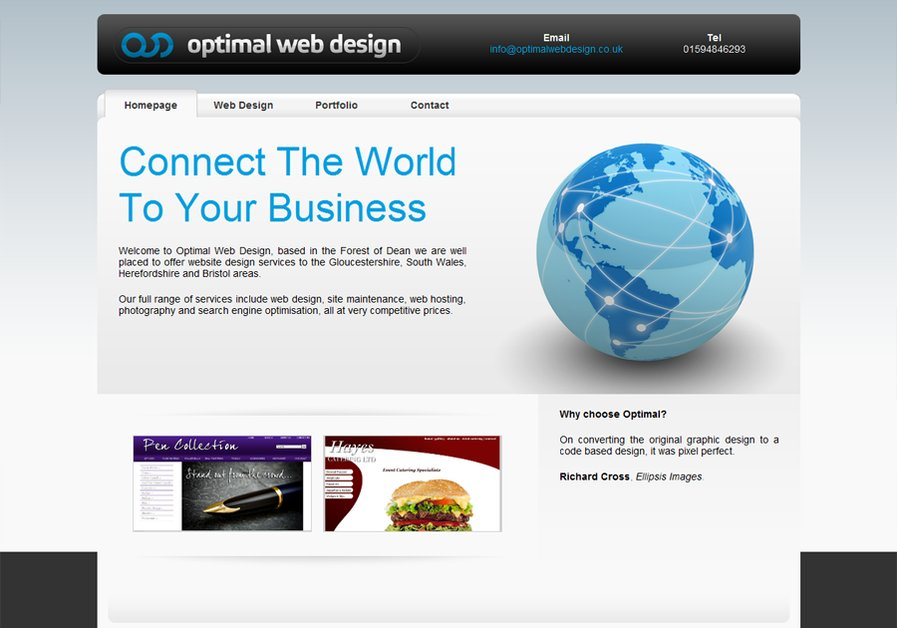 A great web design by Optimal Web Design, Gloucester, United Kingdom: