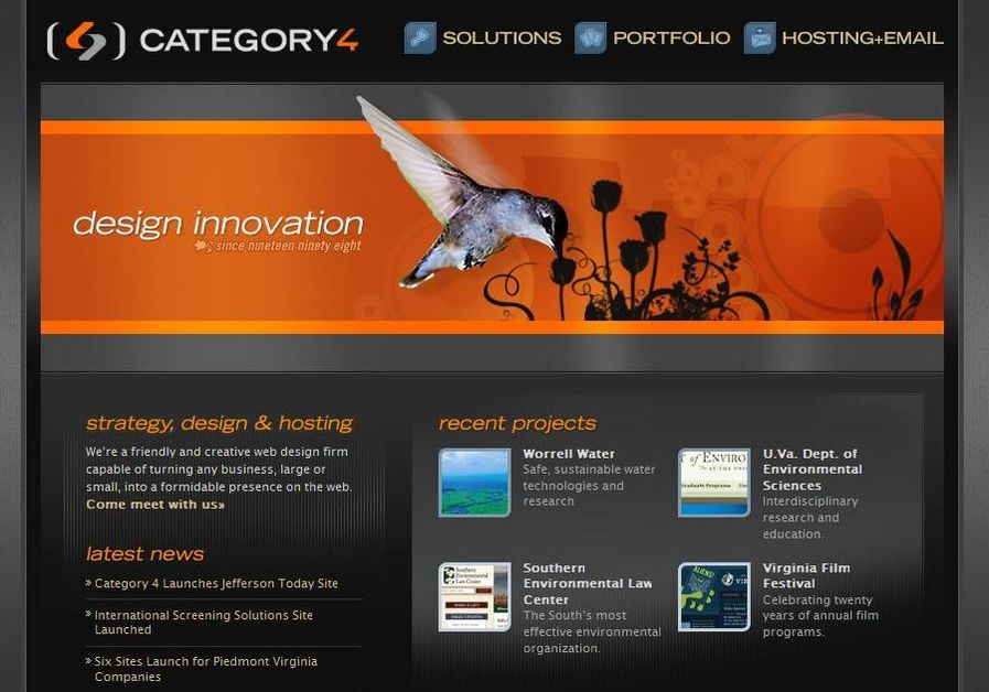 A great web design by Category 4 Design, Charlottesville, VA: