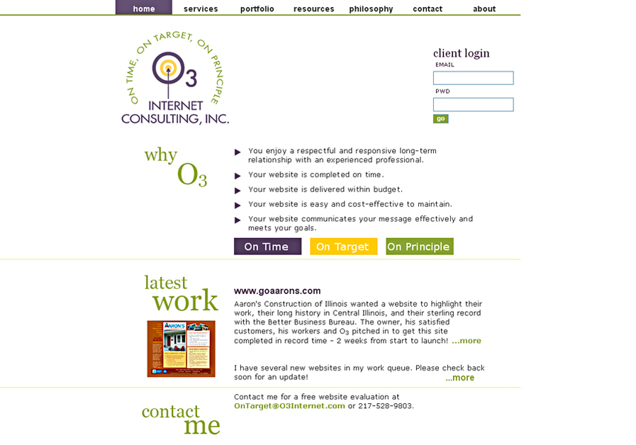 A great web design by O3 Internet Consulting, Inc., Springfield, IL: