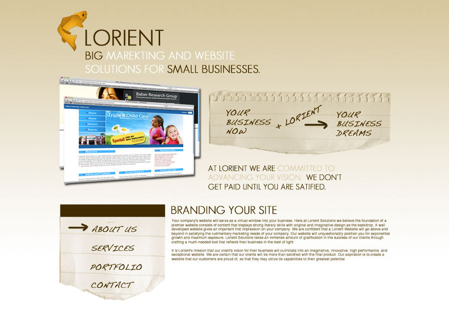 A great web design by Lorient Solutions, Chicago, IL: