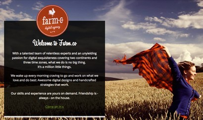 A great web design by Farm.co, Madrid, Spain: