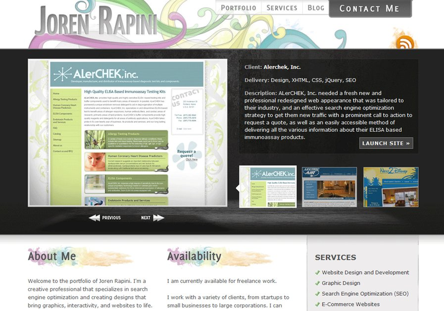A great web design by Joren Rapini Web Design & Development, Cleveland, OH: