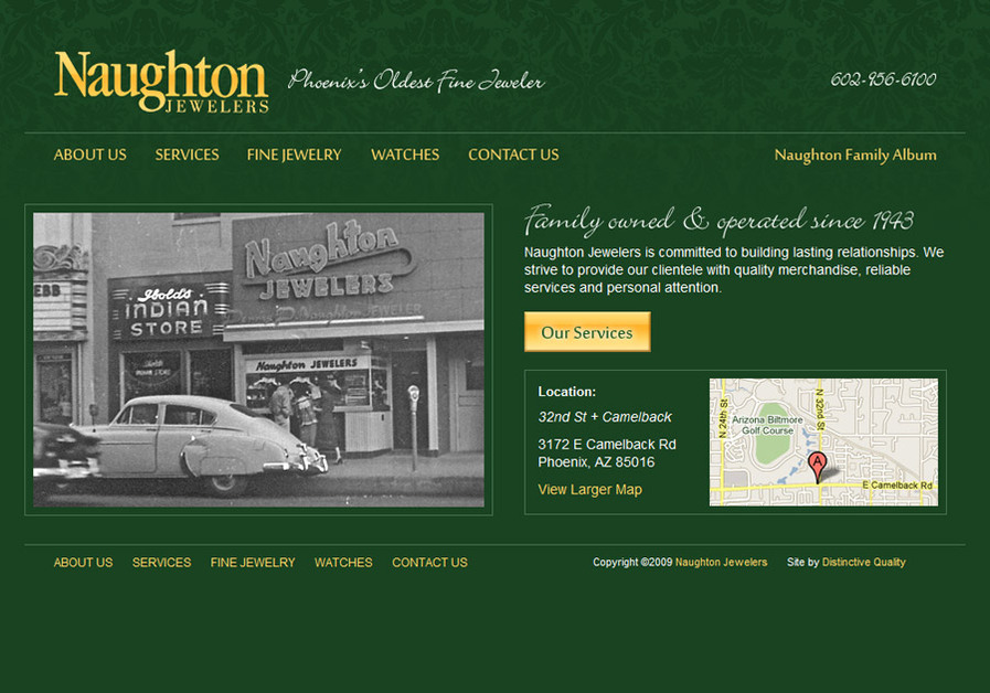 A great web design by Distinctive Quality, Phoenix, AZ: