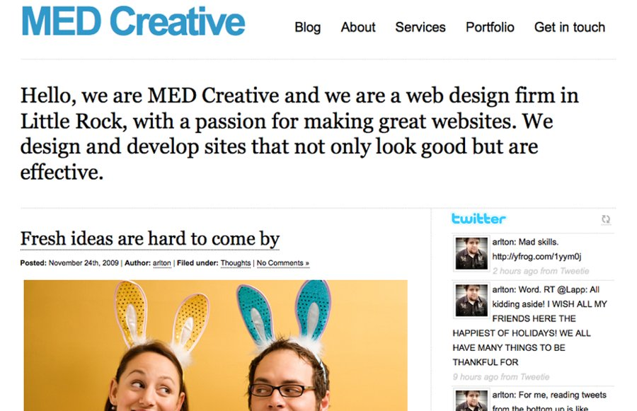 A great web design by MED Creative, Dallas, TX:
