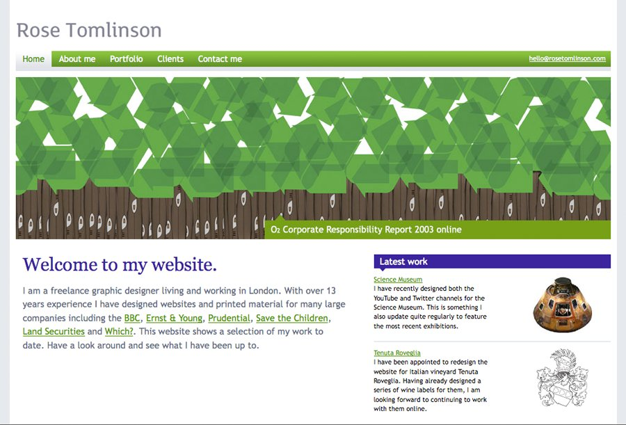 A great web design by Rose Tomlinson, London, United Kingdom: