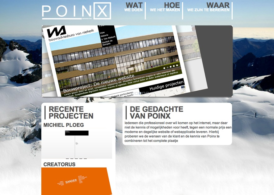 A great web design by PoinX, The Netherlands, Netherlands: