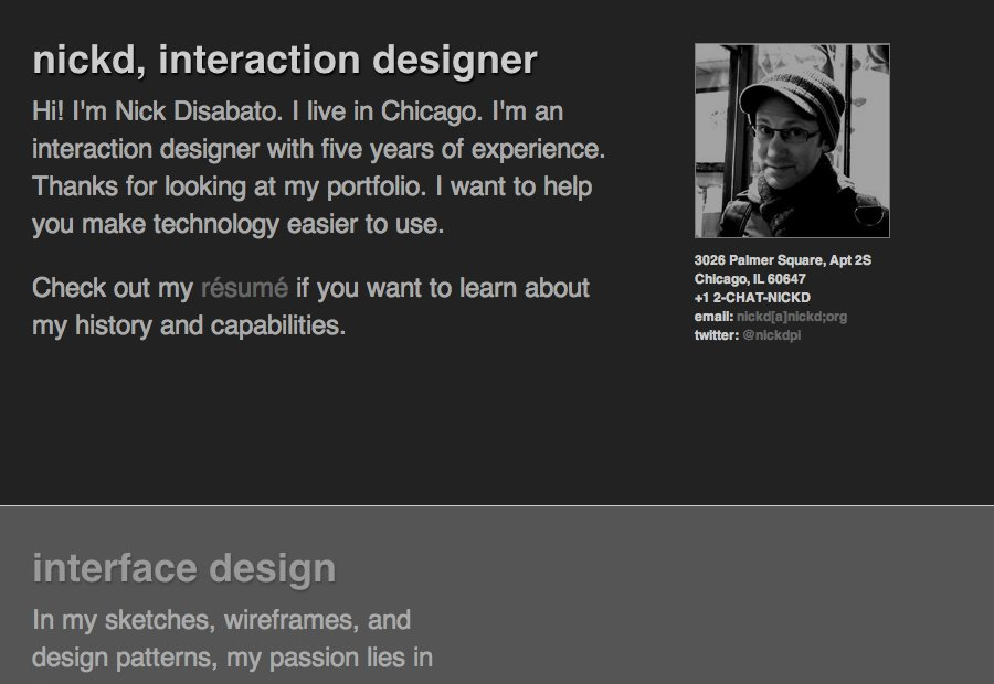 A great web design by nickd, Chicago, IL: