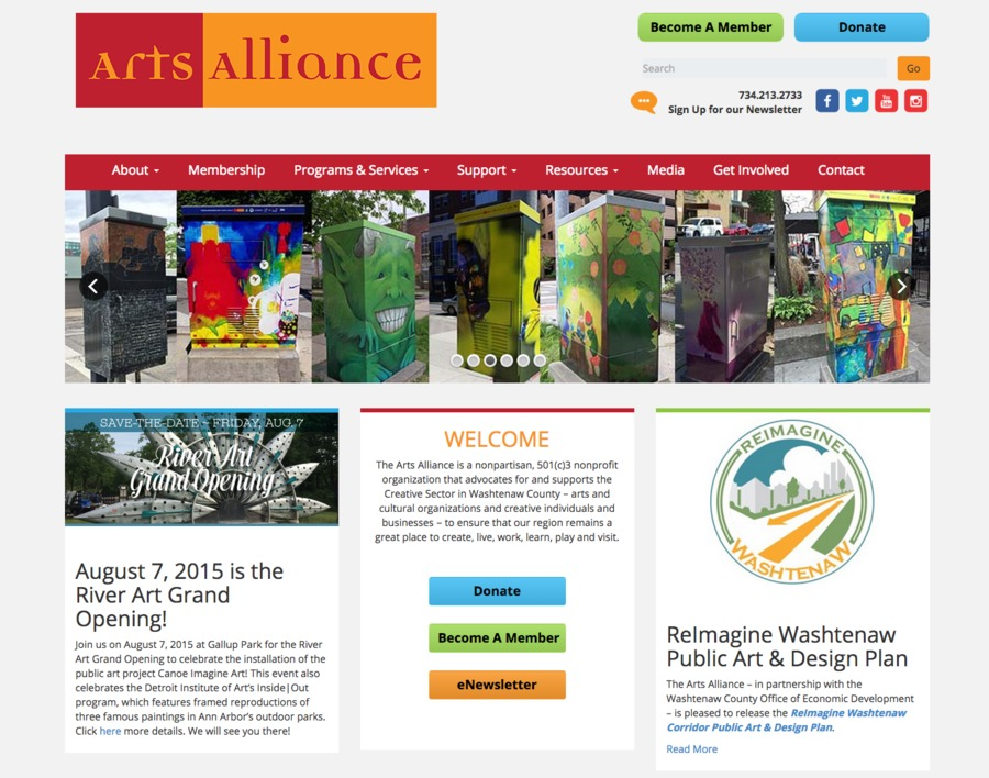A great web design by Visual Compass, Ann Arbor, MI: Responsive Website, Wordpress