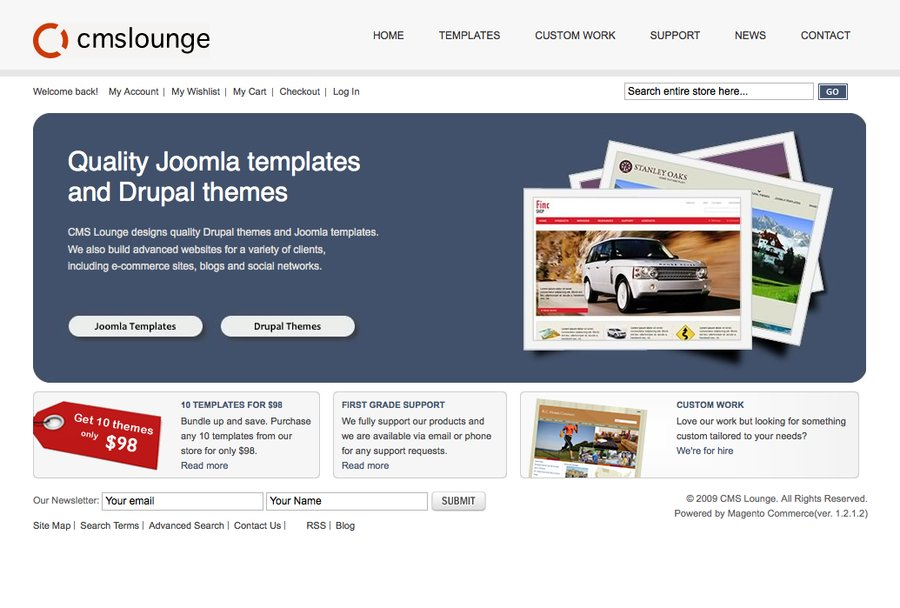 A great web design by CMS Lounge, Toronto, Canada: