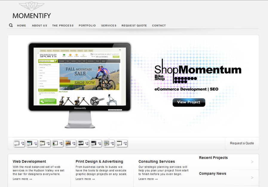 A great web design by Momentify Design, New York, NY: