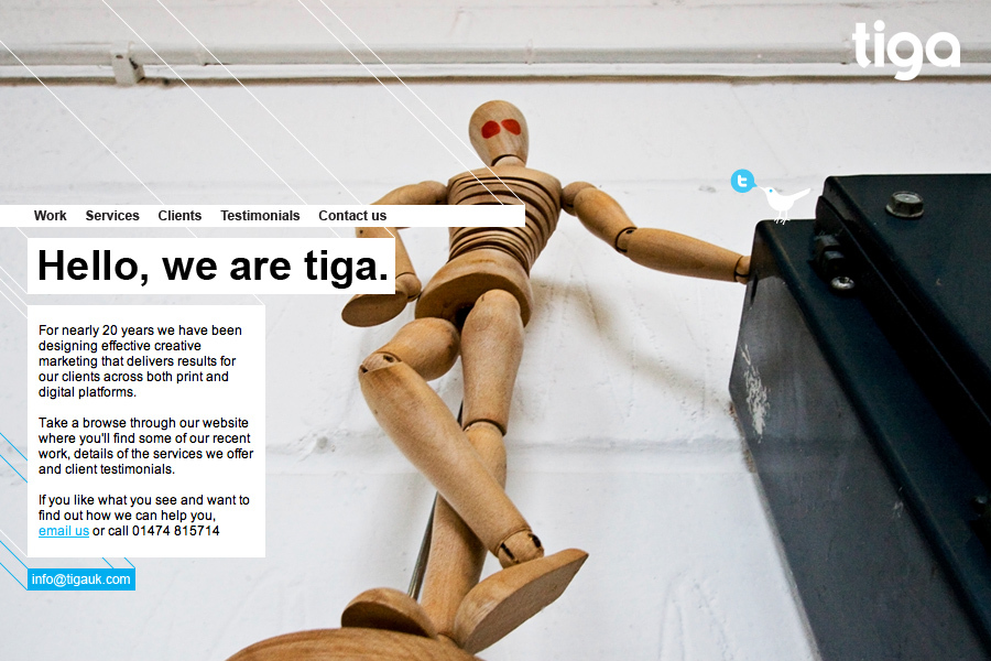 A great web design by tiga creative marketing, Kent, United Kingdom: