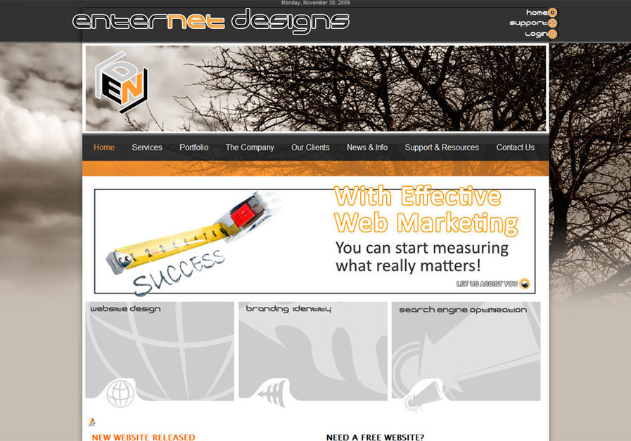 A great web design by EnterNet Designs, Portsmouth, VA: