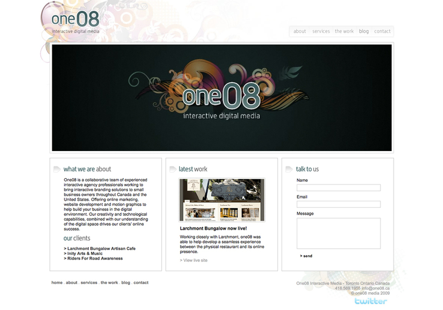 A great web design by One08 Interactive Media, Toronto, Canada: