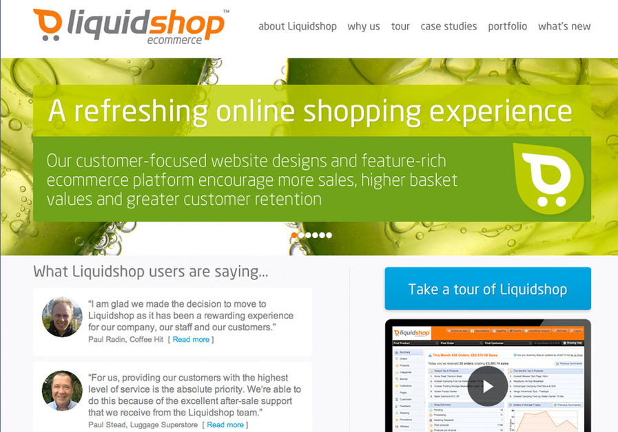 A great web design by Liquidshop ecommerce, London, United Kingdom:
