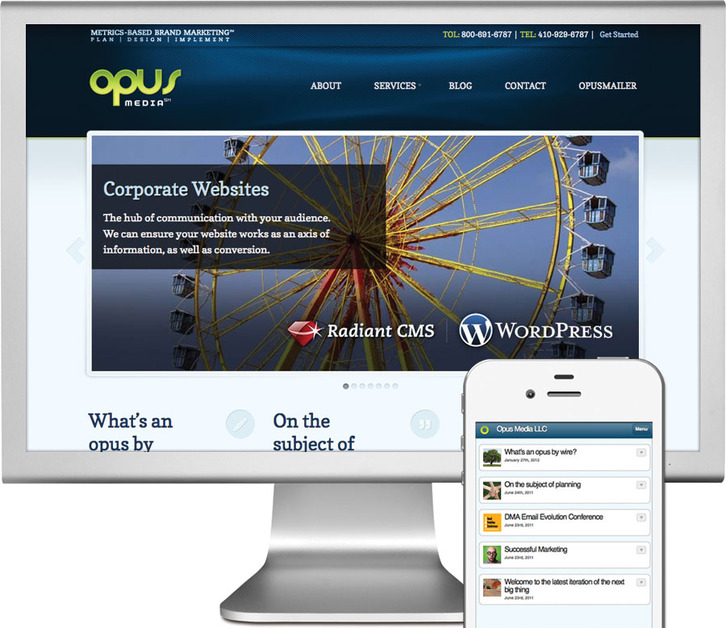 A great web design by Opus Media LLC, Baltimore, MD: