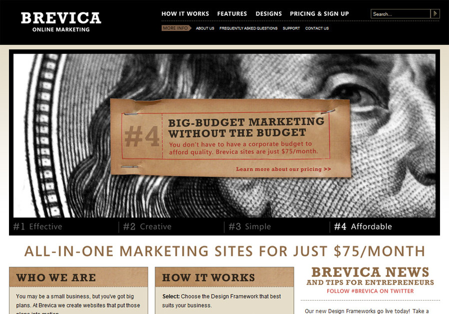 A great web design by Brevica Online Marketing, Seattle, WA:
