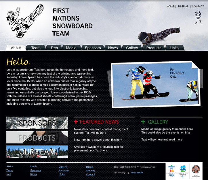 A great web design by Neos Media Inc. / Epoch Web Design, Vancouver, Canada:
