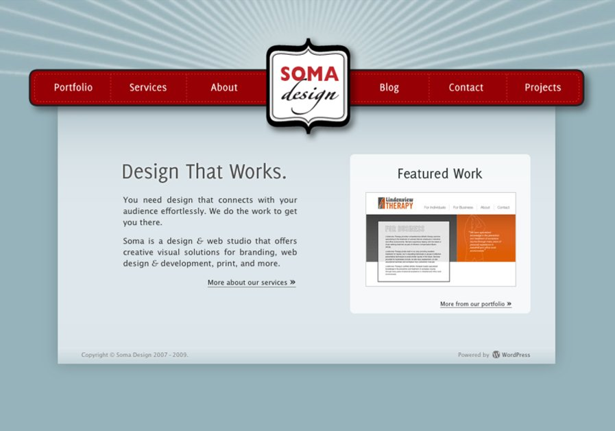A great web design by Soma Design, Winnipeg, Canada: