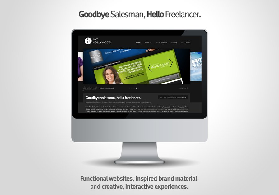 A great web design by Jay Hollywood - Freelancer, Perth, Australia: