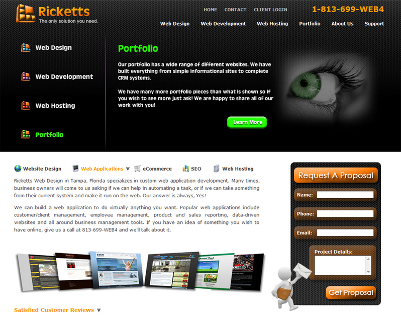 A great web design by Ricketts , Tampa, FL: