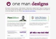 A great web design by One Man Designs, Glasgow, United Kingdom: