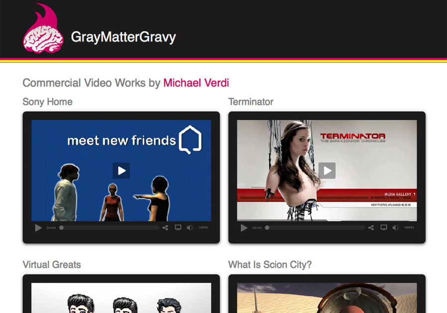 A great web design by GrayMatterGravy, San Antonio, TX: