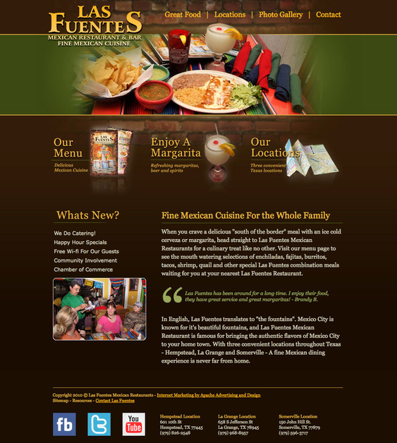 A great web design by Apache Advertising & Design, Houston, TX: