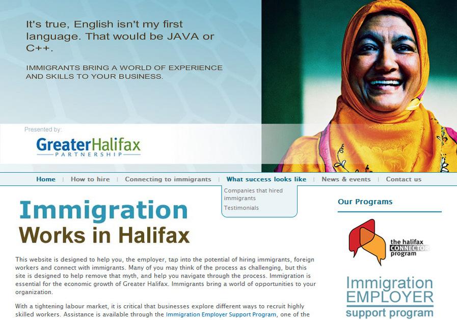 A great web design by immediaC, Halifax, Canada: