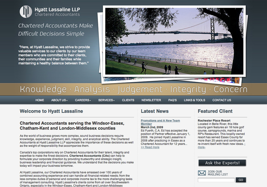 A great web design by Webplanet.ca, Windsor, Canada:
