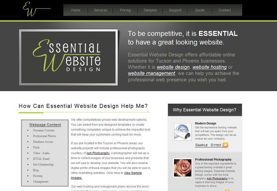 A great web design by Essential Website Design, Tucson, AZ: