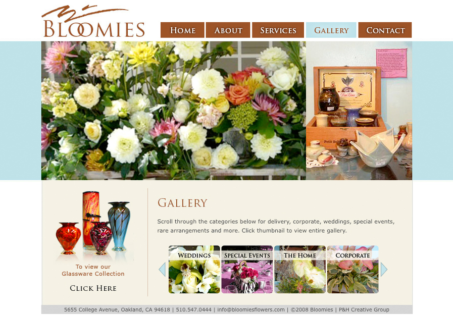 A great web design by Alexa Chipman, Petaluma, CA: