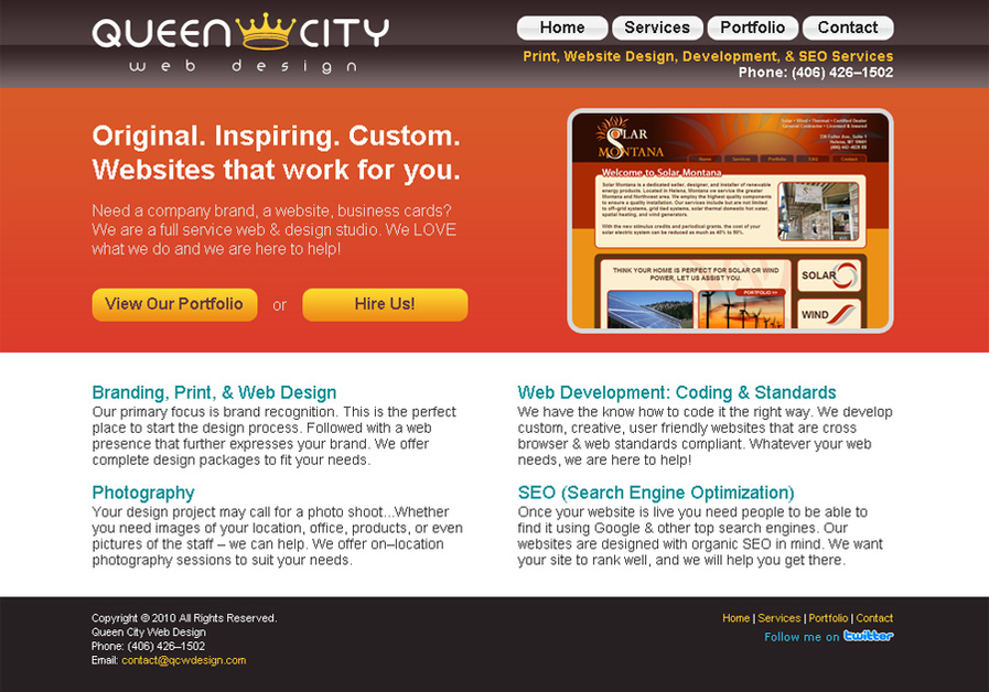 A great web design by Queen City Web Design, Los Angeles, CA: