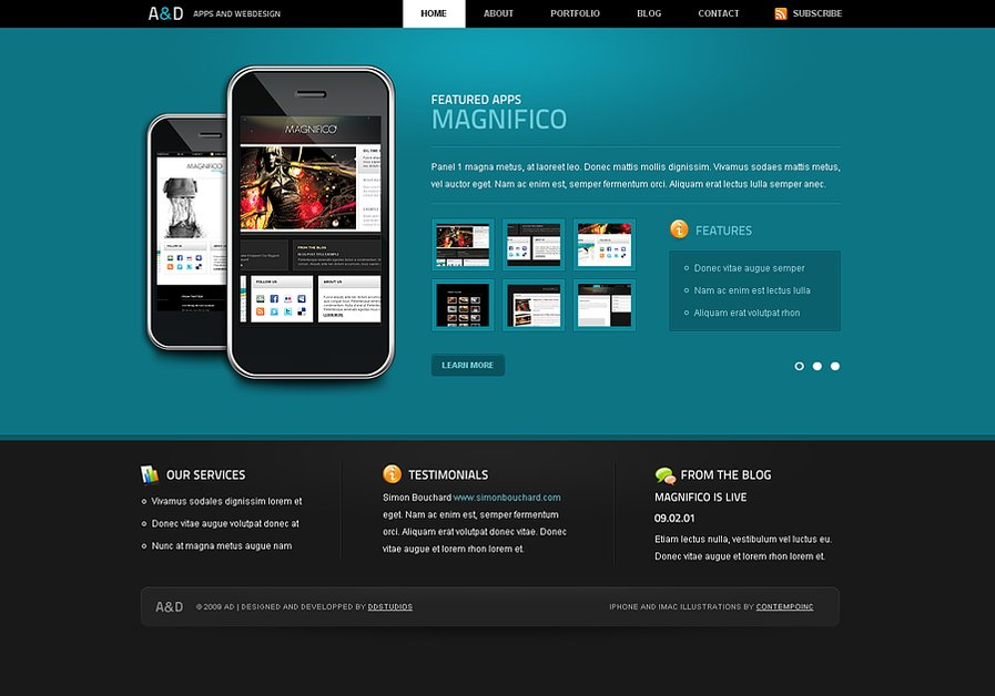 A great web design by DDStudios, Montreal, Canada: